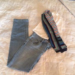 Loft Button Fly Boyfriend Jeans